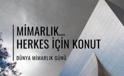 Dünya Mimarlık Günü Kutlama Mesajları
