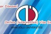 AOF Bahar Dönemi Online Vize Hakkında Bilgilendirme