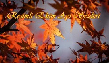 Resimli Ekim Ayı Sözleri